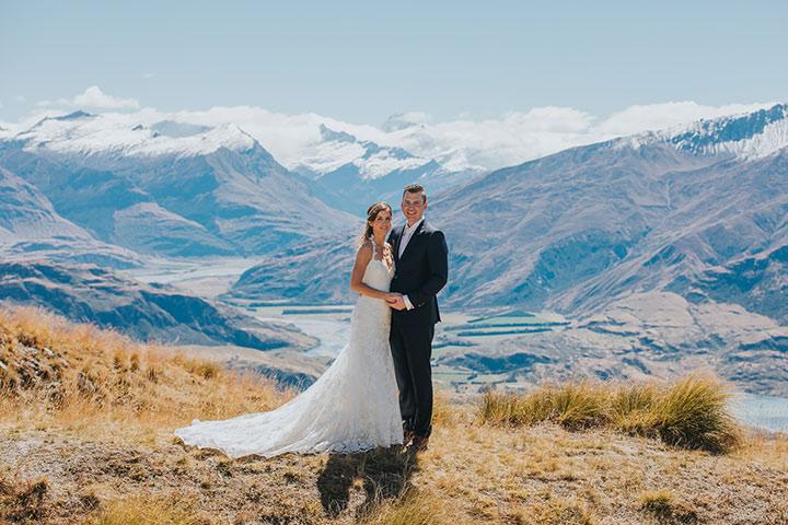 Mountain Wedding at Coromandel Peak in Wanaka New Zealand