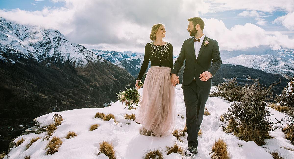 Mountain Wedding boho bride