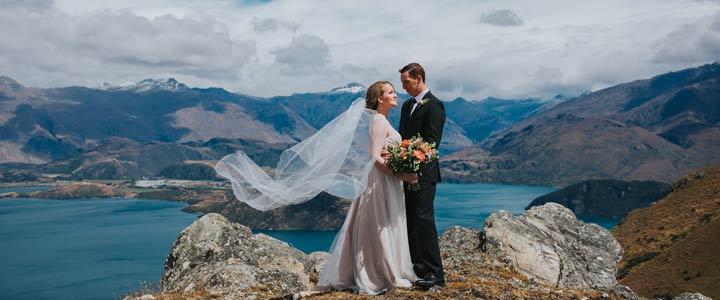 Mountain Wedding in Wanaka on Stevenson's Arm