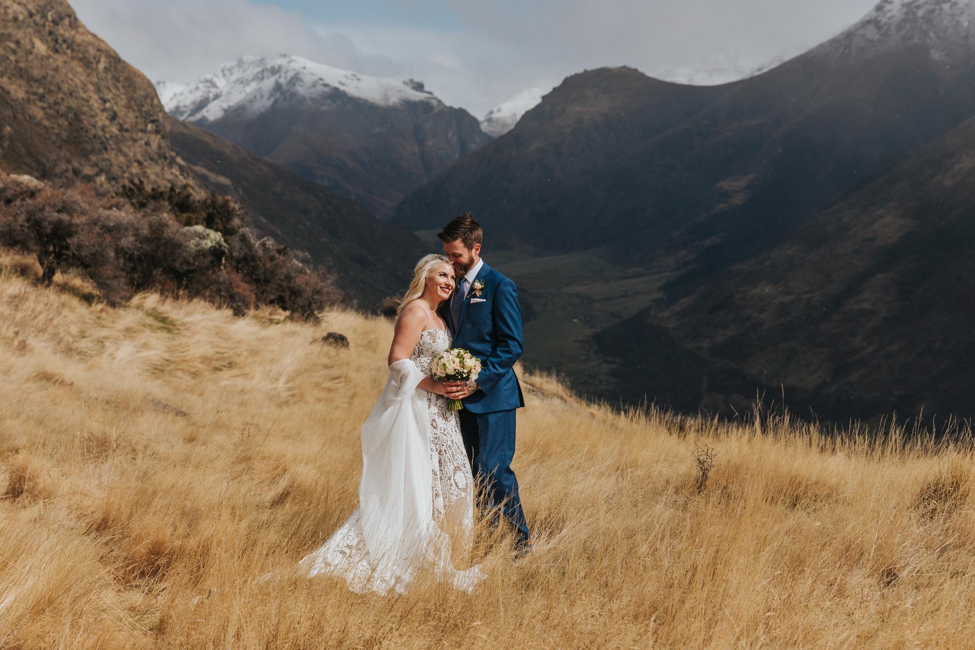 Mountain Weddings on Bayonet Peak in Queenstown