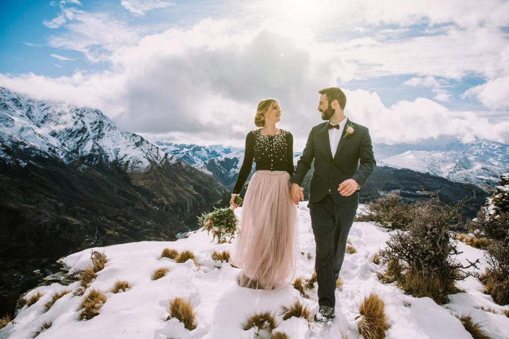Winter mountain Wedding Queenstown