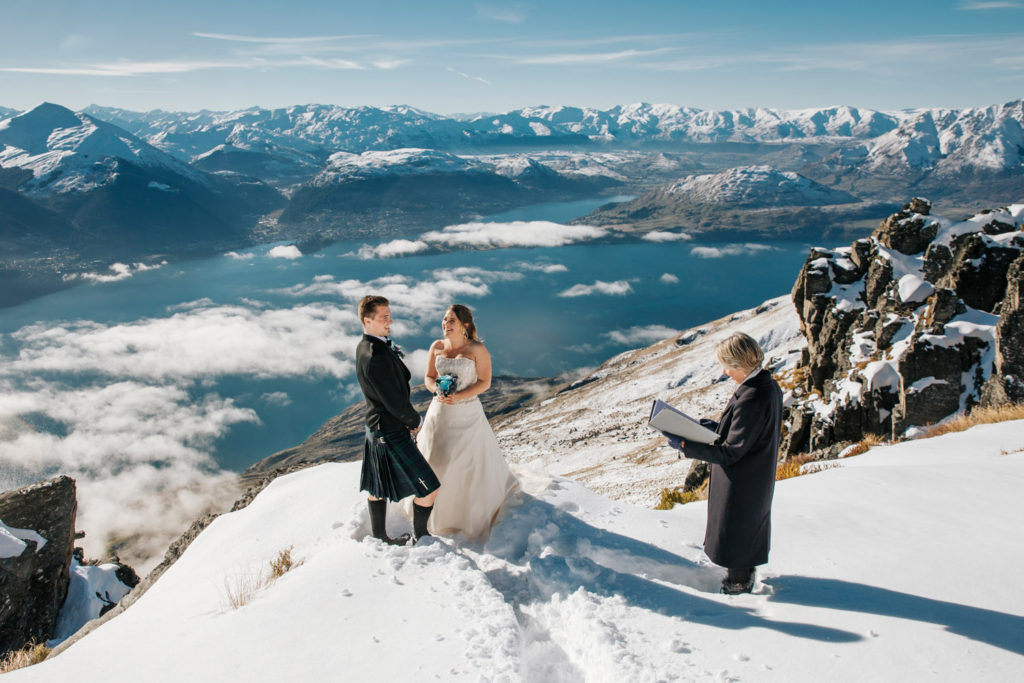 Mountain Wedding on The Ledge in Queenstown
