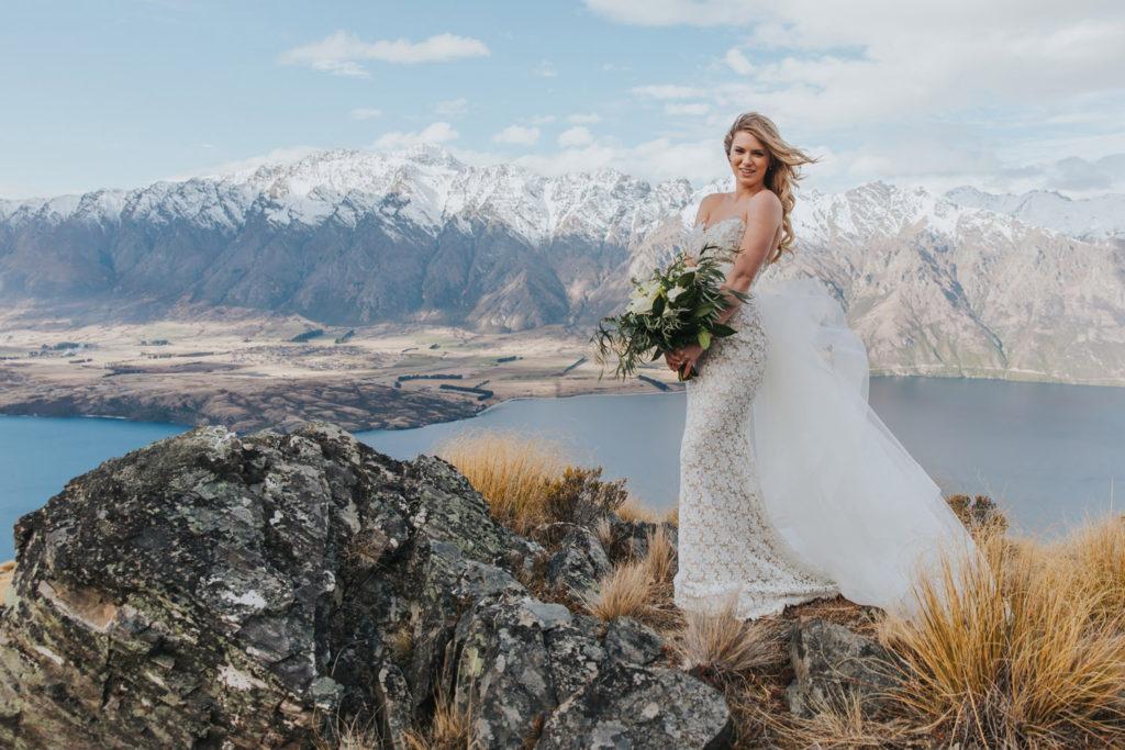 mountain Wedding in Queenstown on Cecil Peak